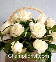 กระเช้าดอกไม้สด bk 09
